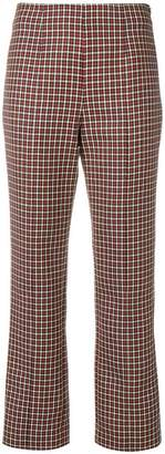 Courreges houndstooth straight trousers
