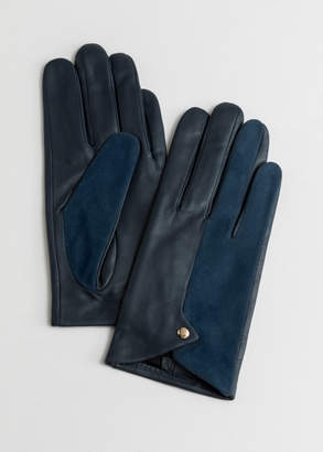 Duo Leather Suede Gloves