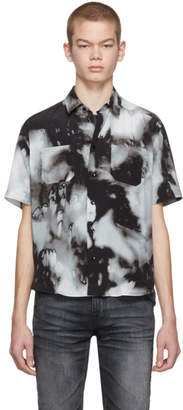Saint Laurent Grey Silk Tie-Dye Shirt
