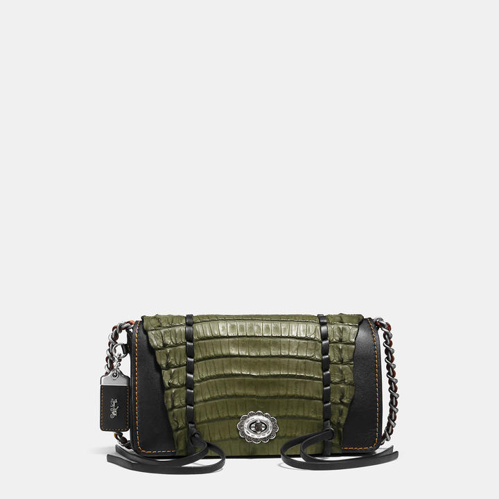Coach  COACH Coach Dinky In Glovetanned Leather With Whipstitch Crocodile