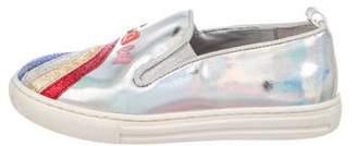 Stella McCartney Girls' Vegan Leather Appliqué Sneakers