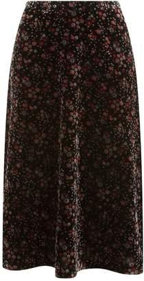 Claudie Pierlot Floral Velvet Skirt