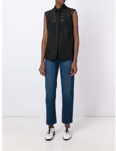 Stella McCartneyStella McCartney lace detail sleeveless shirt