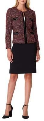 Tahari Arthur S. Levine Boucle Skirt Suit