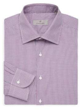 Canali Gingham Modern-Fit Cotton Dress Shirt