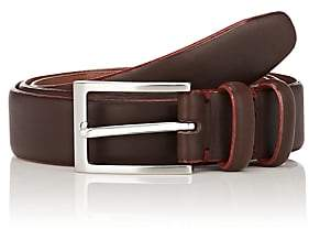 Barneys New York MEN'S CONTRAST-EDGE LEATHER BELT