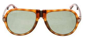 Salvatore Ferragamo Folding Tortoiseshell Sunglasses