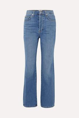 Eve Denim Juliette High-rise Straight-leg Jeans - Light denim
