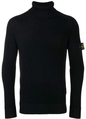 Stone Island ribbed turtle neck jumper
