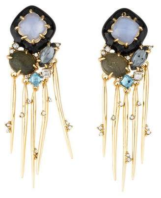 Alexis Bittar Satellite Spike Tassel Statement Earrings