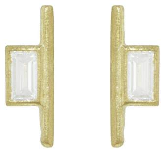 Tate Large Baguette Diamond Stick Stud Earrings