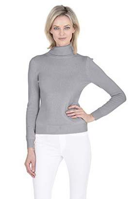 Cashmeren Soft Turtleneck Sweater Cashmere Wool Classic Jersey Knit Long Sleeve Pullover for Women (