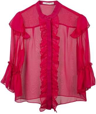 Alice + Olivia Alice+Olivia ruffled silk blouse