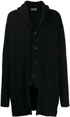 Yohji Yamamoto asymmetric long-line cardigan