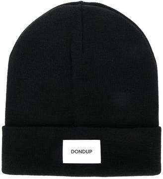 Dondup logo patch beanie hat