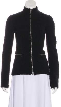 Giorgio Armani Wool Zip-Up Jacket