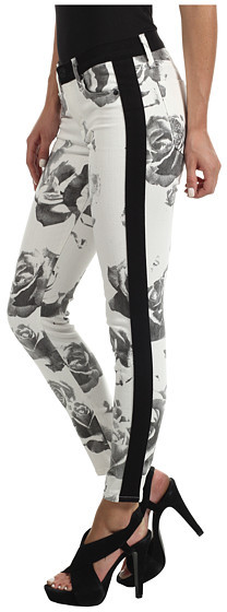 Hudson Leeloo Super Skinny Crop in Black/White Floral