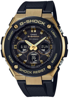 Casio G Steel Duo Mid Size GSTS300G-1A9 Black & Gold Stainless Steel Watch