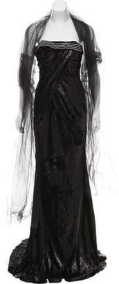 John Paul Ataker Sequin Evening Dress