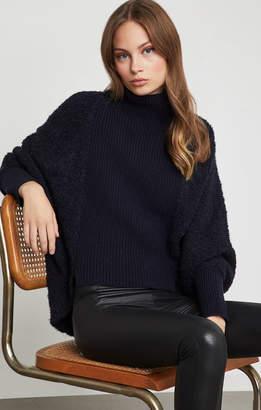 BCBGMAXAZRIA High-Low Turtleneck Sweater