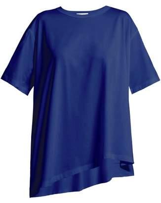 Vika Gazinskaya Tie Front T Shirt - Womens - Navy