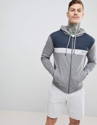 BOSS Bodywear Zip-Thru Jacket With Hood