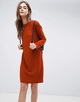 Asos Jumper Dress In Ripple Stitch