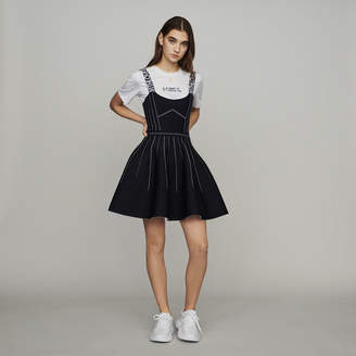 Maje Reversible weaved short dress