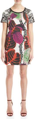 Desigual Lucia Printed Mixed Media Dress