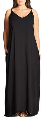 City Chic V-Neck Maxi Dress