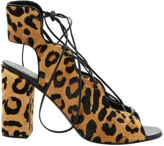 Saint Laurent Pony-style calfskin sandals