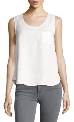 Lord & Taylor Scoopneck Linen Tank Top