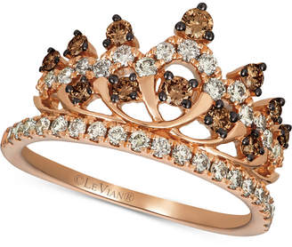 LeVian Le Vian Chocolate & Nude Diamond Tiara Ring (7/8 ct. t.w.) in 14k Rose Gold