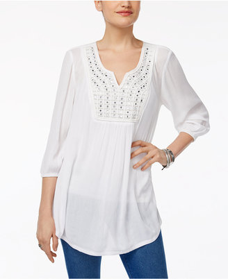 Style & Co Embellished-Bib Top, Only at Macy's $59.50 thestylecure.com