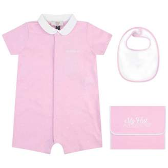 Armani Junior Armani JuniorBaby Girls Pink Romper Gift Set