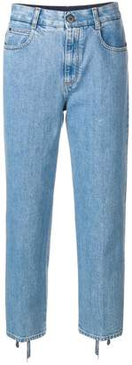Stella McCartney lace-up ankle cropped jeans