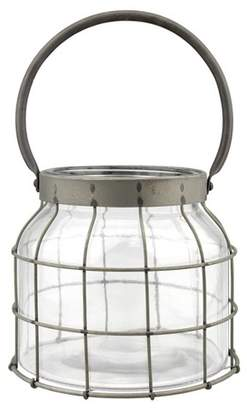 CKK Home Decor Stonebriar Metal Cage Candle Lantern with Handle