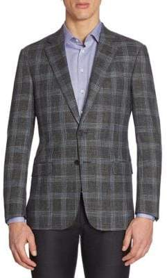 Giorgio Armani Regular-Fit Plaid Sportcoat