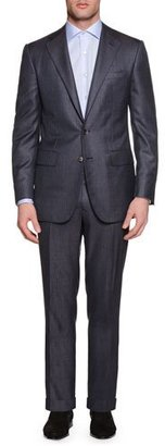 Stefano Ricci Tonal-Stripe Two-Piece Cashmere-Blend Suit, Gray $7,475 thestylecure.com