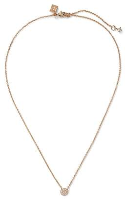 Banana Republic Pave Circle Pendant Necklace