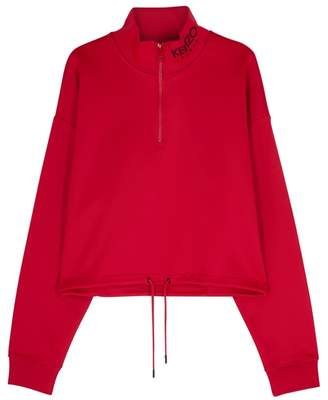Kenzo Red Cropped Jersey Sweatshirt