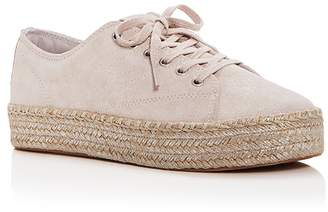 Tretorn Women's Eve Glitter Suede Lace Up Platform Espadrille Sneakers