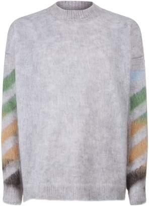 Off-White Off White Stencil Spray Sweater