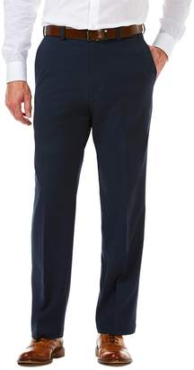 Haggar Big & Tall Cool 18 PRO Classic-Fit Wrinkle-Free Flat-Front Expandable Waist Pants