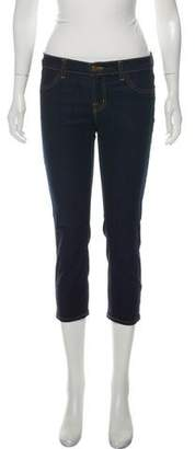 J Brand Mid-Rise Straight Leg Cropped Jeans