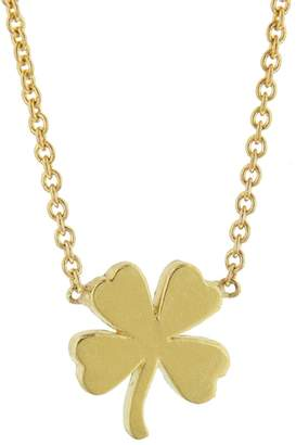 Jennifer Meyer Mini Four Leaf Clover Necklace - Yellow Gold