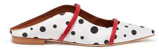 Malone Souliers 'Maureen' polka dot strappy satin slides