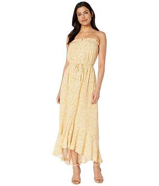 Vince Camuto Strapless Delicate Cluster Button Down Dress