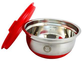 Weight Watchers Gibson Home Townsend 1.5 Quart Mixing Bowl with Lid in Crimson