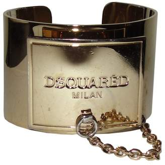 DSQUARED2 18K Gold Plated ID Cuff Bracelet